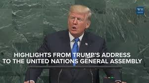 Foreign Policy and the President's Speech to the United Nations General Assembly
